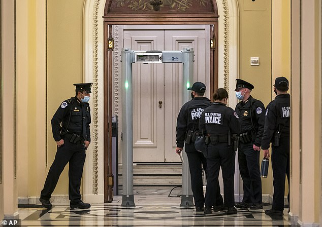 All lawmakers must go through themagnetometer and be checked by U.S. Capitol Police before they can enter the House floor