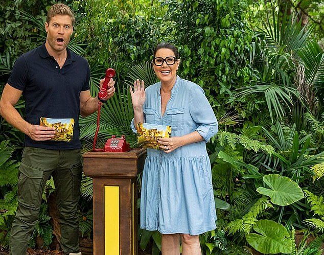 Tune in: I'm a Celebrity... Get Me Out of Here! continues Thursday at 7:30pm on Channel 10. Pictured: hosts Dr Chris Brown and Julia Morris