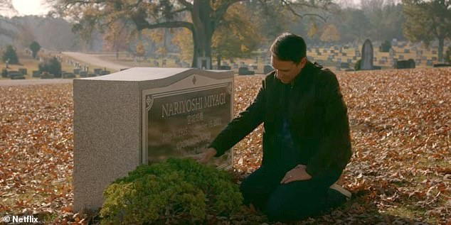 Sweet:The series has continued to honor his iconic character as his student Daniel LaRusso often visits his gravestone