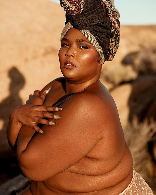 Owning it: Candid about her struggle to wholeheartedly embrace her body as she has felt shamed for trying to lose weight she told a girl on TikTok 'eventually your mind will catch up with how beautiful you actually are'; pictured January 11