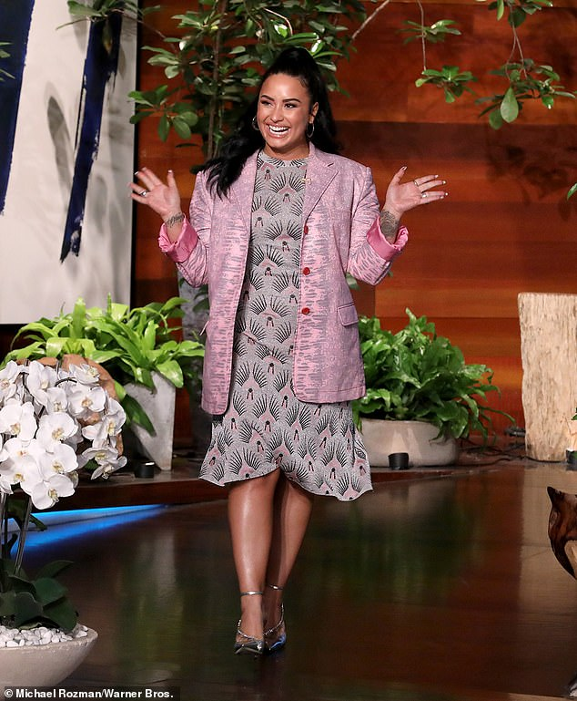 Some insight:Though the docuseries is expected to give fans a clear understanding of Demi's ongoing struggle with addiction and mental health, the star did offer some insight during an interview with Ellen DeGeneres last year; Demi pictured in March 2020