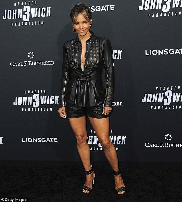 Role models:Halle Berry, shown in May 2019 in Hollywood, shared that having black role models in film and TV was 'very important' to her growing up and provided career inspiration