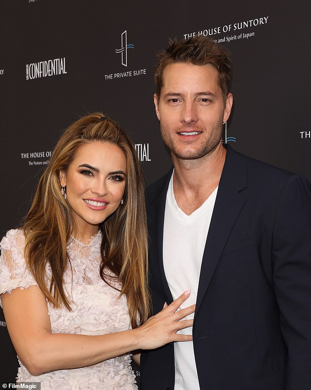 Sudden split: News of the pair's settlement comes over a year after Hartley famously filed for divorce from Chrishell, which came as a total surprise to the Selling Sunset star; Chrishell and Justin pictured in June of 2019