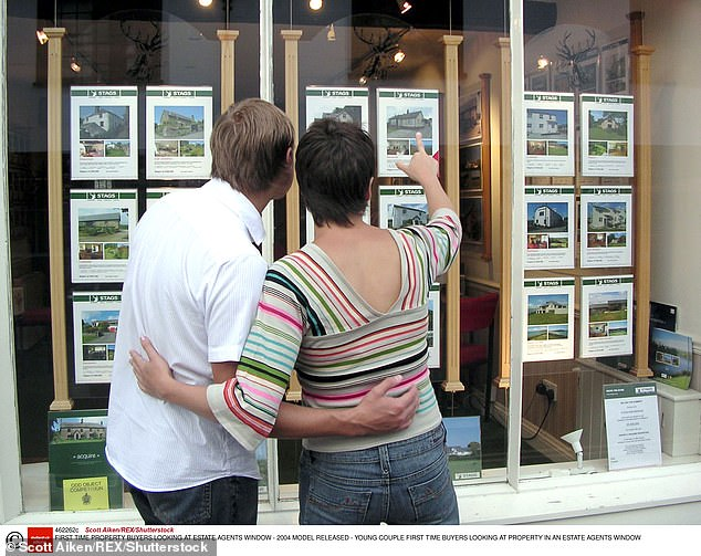 House prices have risen by £14,000 in six months with the average price of a UK home at a record £252,211 at the end of 2020 (file photo)
