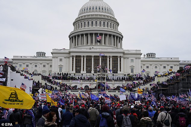 A mass of Trump supporters left his rally on Wednesday and headed straight for the Capitol