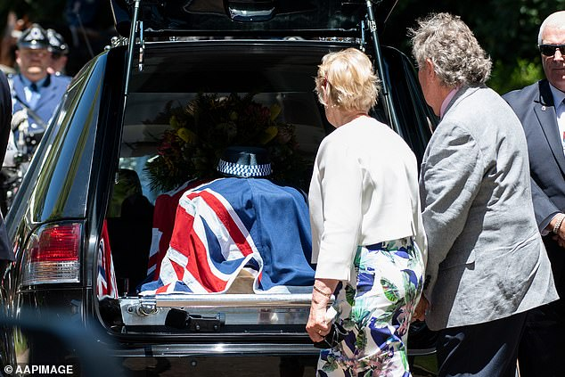 Family, friends and colleagues of the police officer gathered at Lithgow Uniting Church for her funeral on Thursday afternoon