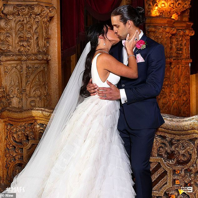 They can say it will last!  Viewers also acknowledged the sexual tension between Martha Kalifatidis and Michael Brunelli (both pictured), who are still together in 2021
