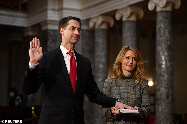 Cotton, being sworn in to the new session of Congress on January 3, said the Founding Fathers did not permit impeachment of private citizens - which Trump will be on January 21