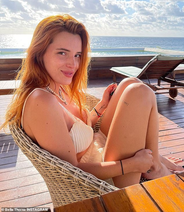 Glow: Bella Thorne looked radiant as she showed off her natural beauty while posing for bikini pics on Wednesday