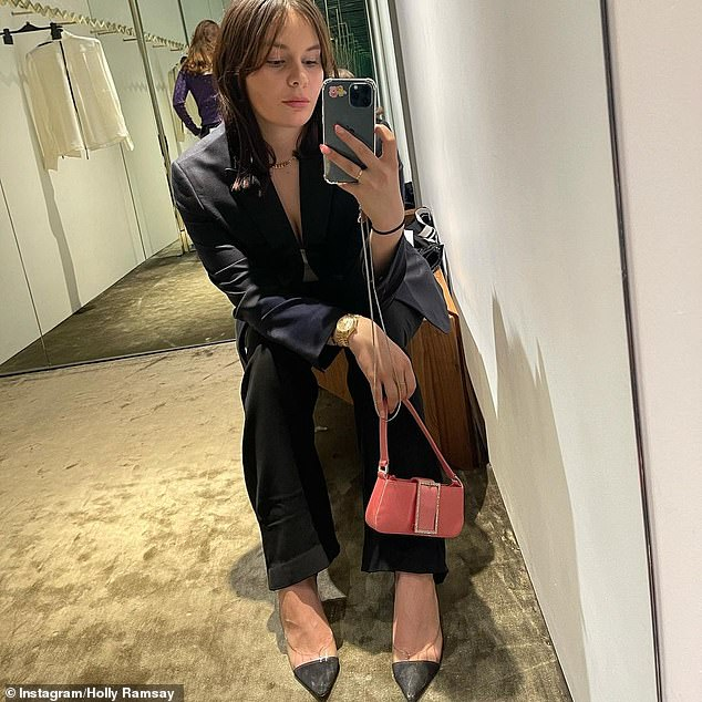 Retail therapy: Gordon Ramsay's daughter Holly looked chic as she went shopping with mum Tana on Wednesday, after celebrating her 21st birthday at home earlier this month