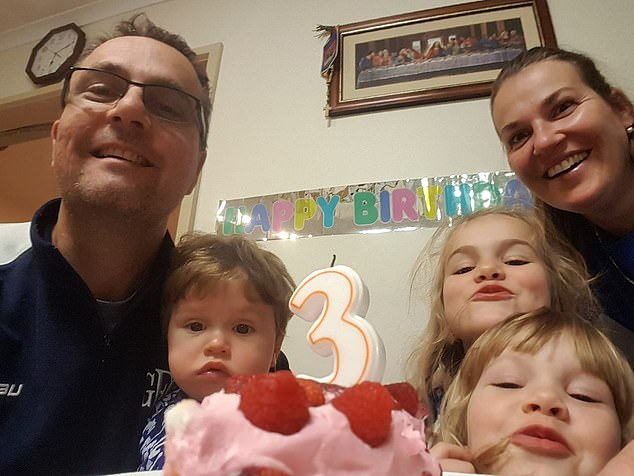 Paramedics found the bodies of Katie Perinovic and Claire, seven, Anna, five, and Matthew, three (all pictured). The father of the children, Tomislav Perinovic (left)  is assisting police with inquiries