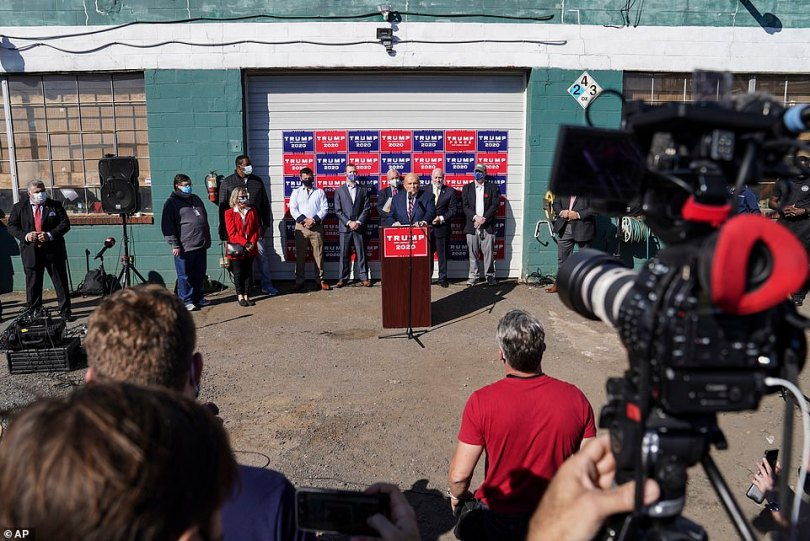 In his election challenge push, Giuliani held anotorious press conference held in the parking lot of Four Seasons Total Landscaping outside Philadelphia in November, leading to speculation that the location had been booked in the belief it was the posh Four Seasons hotel