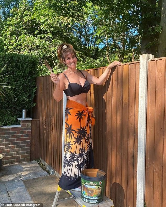 Linda Lusardi has admitted beating COVID-19 and working to keep fit afterwards has given her a new lease of life