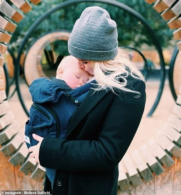 Nearly one! he actress welcomed her son River 10 months ago