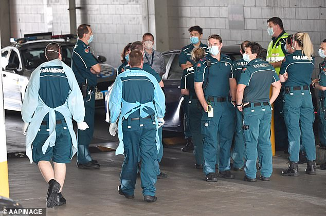 Health officials have been called to the Grand Chancellor Hotel in Brisbane (pictured) after the more contagious UK coronavirus strain was detected
