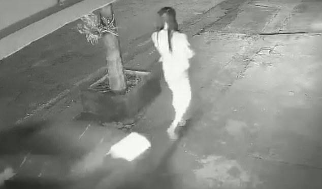 Still image of victim who was plowed into by a motorist in Paraná, Brazil, on Saturday. Authorities claim the driver could have intended to harm the pedestrian
