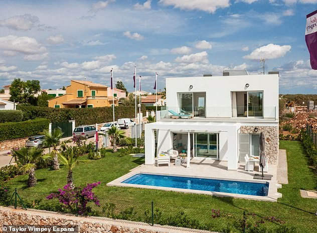 A three-bedroom apartment in Mallorca, Spain, which features three bathrooms, a fitted kitchen and laundry room, is on sale with Taylor Wimpey Espana for£426,838.99