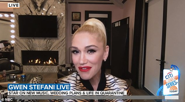 Meant to be: Gwen Stefani, 51, said her fiancé Blake Shelton's proposal arrived 'right on time' during an interview Thursday on Today