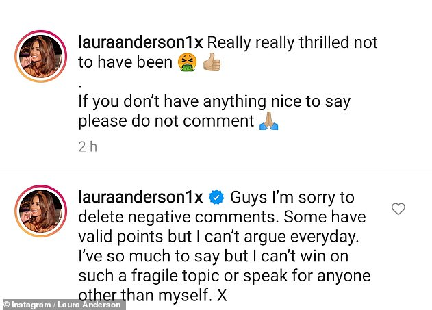 Criticism: Earlier this week, the media personality was forced to delete some of the comments on her recent sun-soaked images