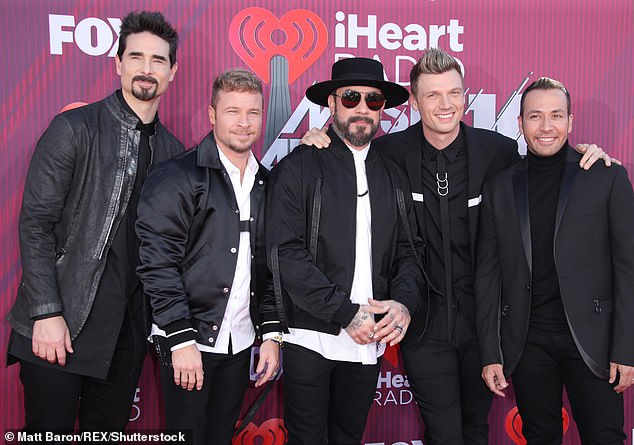 As Long As You Love Me: The Backstreet Boys have sold more than 100 million records worldwide with dozens of No. 1 hits under their belts and legions of fans, making them the most successful boy band of all time; seen in 2019