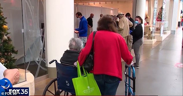 Seminole County officials have now urged residents not to line up as a new system is in place