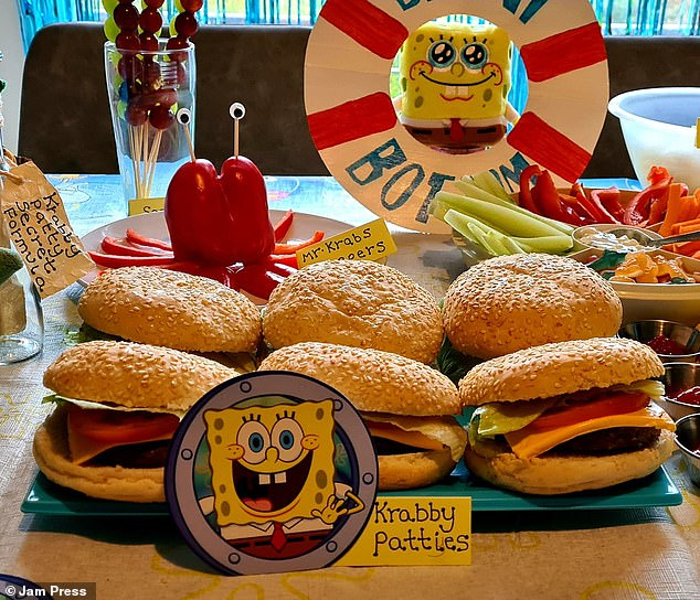 A Spongebob party created by Stacey Brooks for her children previously