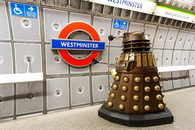Deputy Speaker Nigel Evans quickly intervened on Mr Mann's technology woes, comparing his voice to that of a Dalek (pictured)