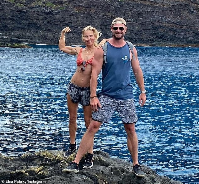 Ripped! Elsa Pataky, 44, showed off her incredible bikini body as she enjoyed a break on Lord Howe Island with her equally muscular husband Chris Hemsworth this week