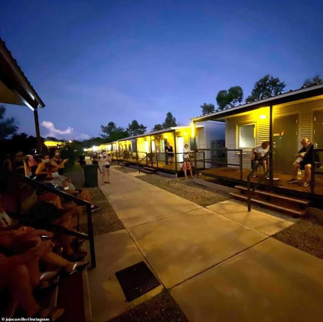 Premier Palaszczuk said the mining camps would be similar to the Northern Territory's Howard Springs quarantine camp (pictured)
