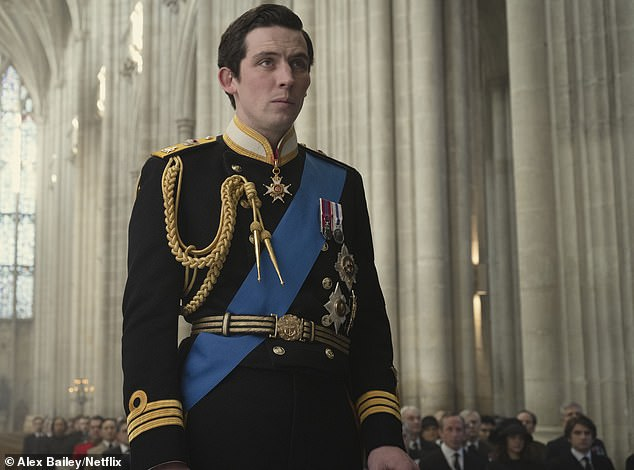 F: Josh O¿Connor as Prince Charles in The Crown. Pictured: The actor in Winchester Cathedral