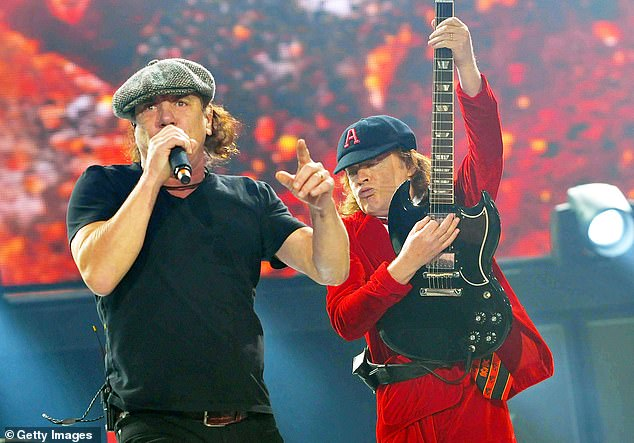 Close:Coming at number four was one of the only Australian-based acts in the running - with AC/DC 's album PWRϟUP sliding into the top five best-selling albums. AC/DC pictured