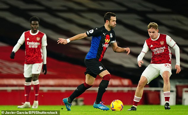 Milivojevic played 89 minutes of Palace's draw against Arsenal on Thursday evening