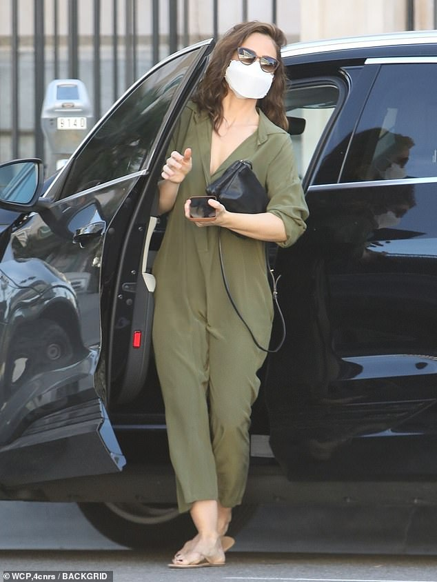 On the move: Minka Kelly, 40, was spotted shopping in Los Angeles on Friday