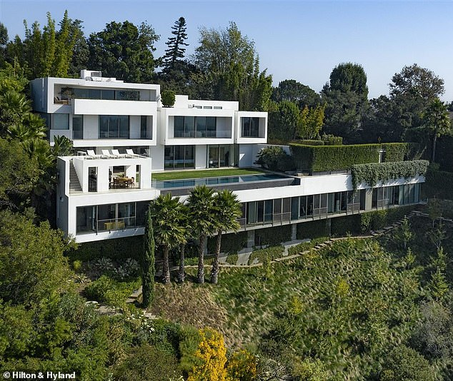 New excavation: Noah's new home was originally designed by LA architect Mark Rios for himself, according to Los Angeles Times