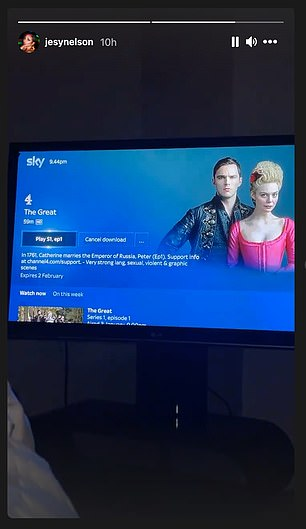 Next watch?Jesy shared a clip of her TV screen, which showed a preview for comedy-drama The Great, staring Elle Fanning and Nicholas Hoult about Catherine The Great