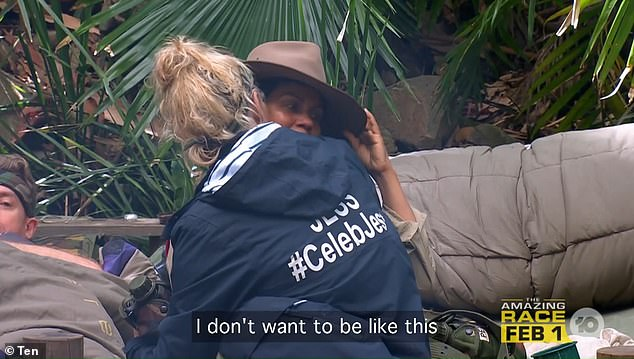 'I don't want to be like this':I'm A Celebrity viewers saw a different side to Pettifleur on Thursday, as she burst into tears over her heartache that she doesn't 'feel anything for anyone'