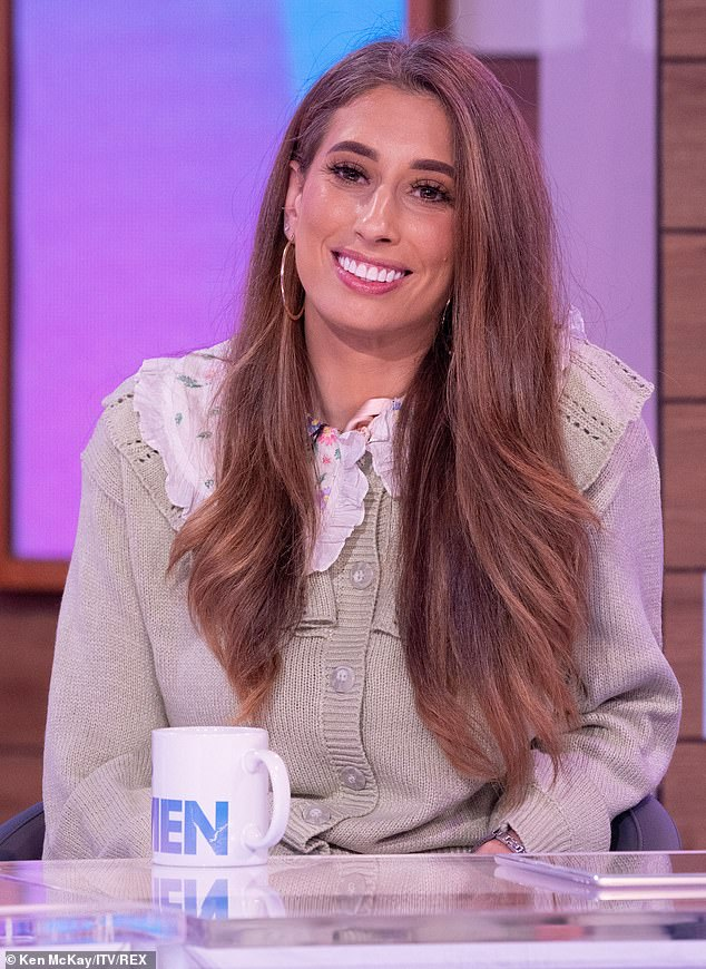 Knackered: Stacey Solomon has revealed that her youngest son Rex, 19 months, who she shares with her fiancé Joe Swash, has been struggling to sleep through the night