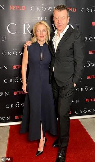 Gillian Anderson and Peter Allen