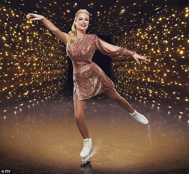 Dancing On Ice's Denise Van Outen is rushed to hospital after dislocating her shoulder