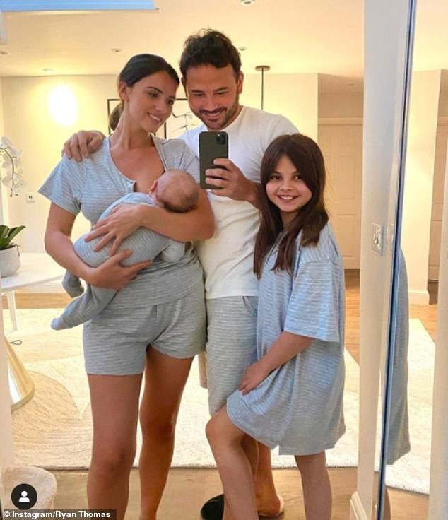 Family:Lucy welcomed baby Roman with former Coronation Street star Ryan, 36, in March. Ryan shares daughter Scarlett, 12, with ex Tina O'Brien