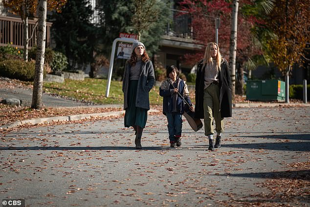Who else is starring in it? Odessa appears in The Stand alongside Whoopi Goldberg playing Mother Abagail, James Marsden as Stu Redman and Alexander Skarsgard portraying Randall Flagg. Pictured with Fordon Cornier as Joe and Amber heard as Nadine Cross on The Stand