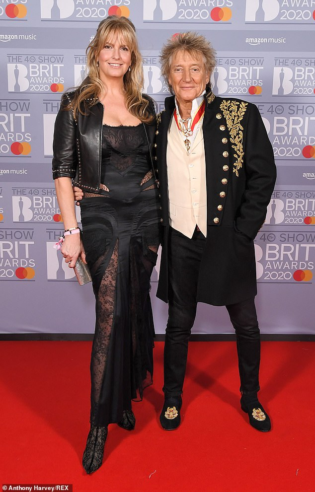 Wow: Rod Stewart has revealed he was left horrified when his wife and biggest fan Penny Lancaster threw a pair of men's underwear at him during a gig in Las Vegas
