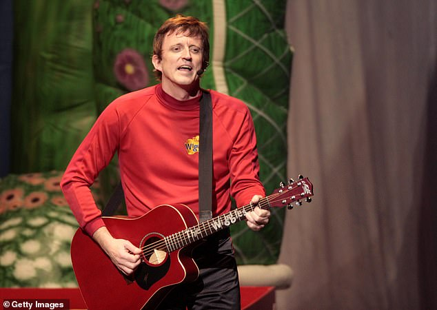 He's back! Murray, who retired from the children's entertainment group in 2012, will perform with his band The Soul Movers in Sydney's Marrickville. Pictured as the Red Wiggle in 2008