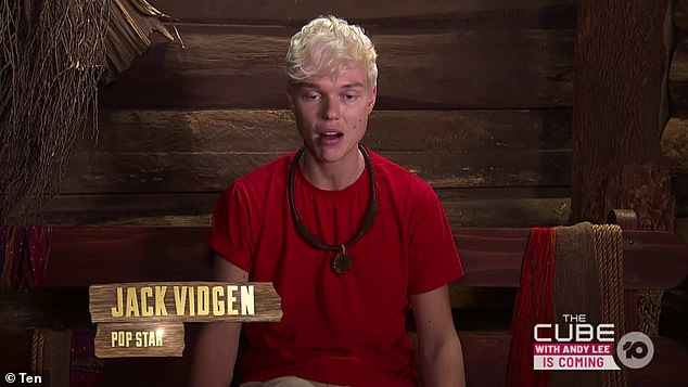 'We were constantly getting told off': Jack Vidgen (pictured) has claimed the 2020 I'm A Celebrity stars - which included four professional singers - 'weren't allowed to sing any commercial songs' in camp. But they did so anyway and had the scenes cut