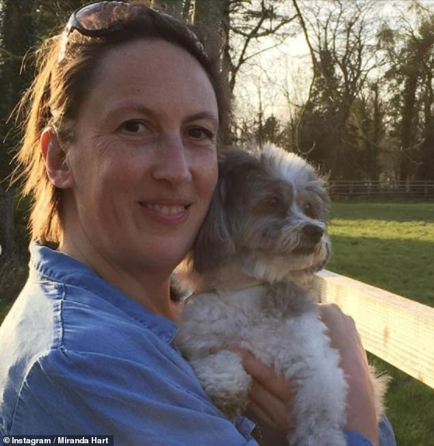 Tragic:Miranda Hart has revealed she's taking a break from her career and social media following the death of her beloved dog Peggy last week
