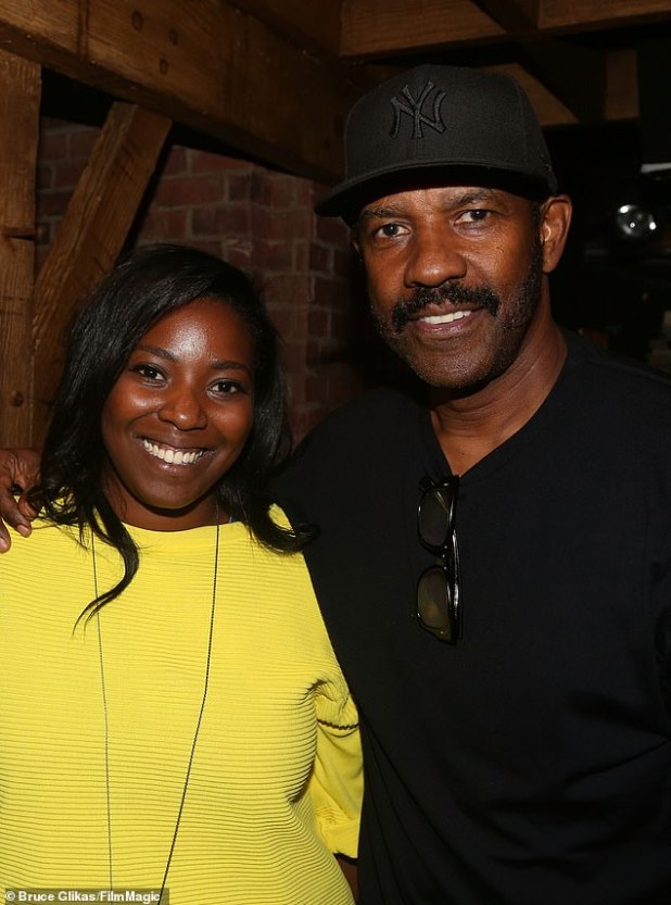 Nepotism: Denzel's 29-year-old daughter (L) did just that to play the role of Amy Anders in her next film, The Little Things (portrayed in 2015)