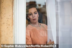 Olivia Colman pictured in The Crown