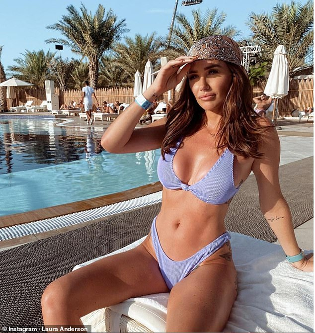 Hitting back: Love Island stars who have jetted to Dubai amid the coronavirus pandemic have reportedly lost thousands of Instagram fans (Laura Anderson pictured)