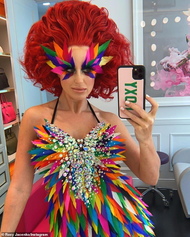 Now that's a fashion statement: Roxy Jacenko is known for her chic style, but on Tuesday she opted for something a little more bold
