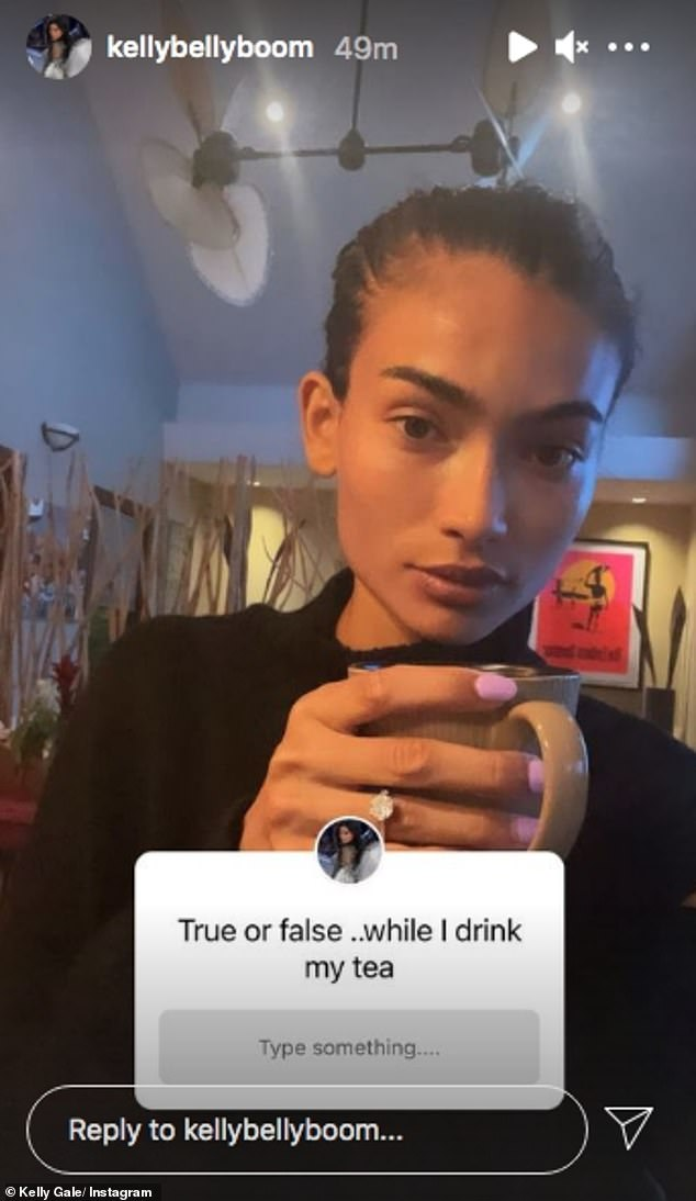 Victoria's Secret model Kelly Gale gives fans a closer look at her diamond engagement ring